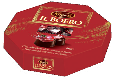 Il Boreo Box with Cherries covered in Chocolate with Liquor