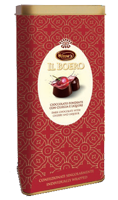 Il Boreo Tin with Cherries covered in Chocolate with Liquor
