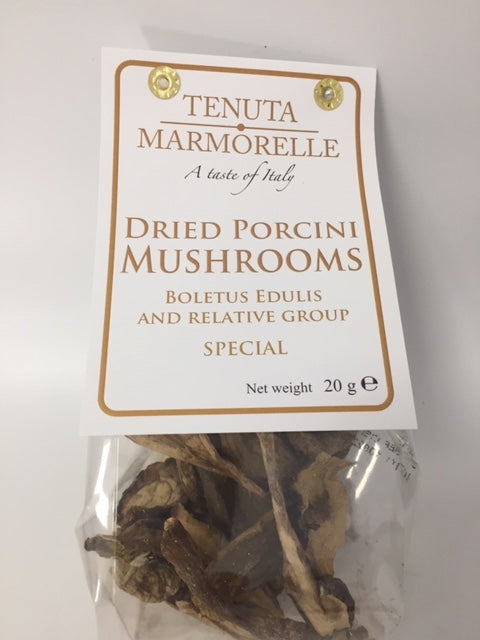 Dried Porcini Mushrooms 20g - Tenuta Marmorelle