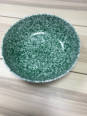 Ceramic Green Speckled Large Deep Bow 34cm - Tenuta Marmorelle