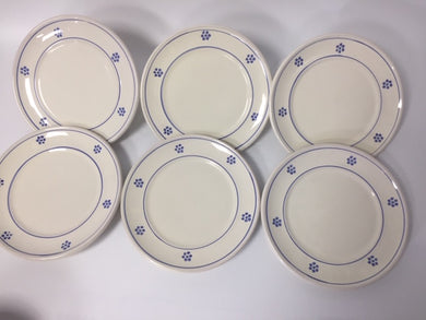 A set of 6 Bianca Stella 20cm Side Plates (cream colour) - Tenuta Marmorelle