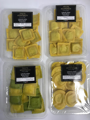 Selection of Fresh Filled Pasta - Tenuta Marmorelle