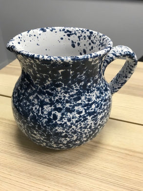 Ceramic Blue Specked Italian Traditional Jug 13cm - Tenuta Marmorelle