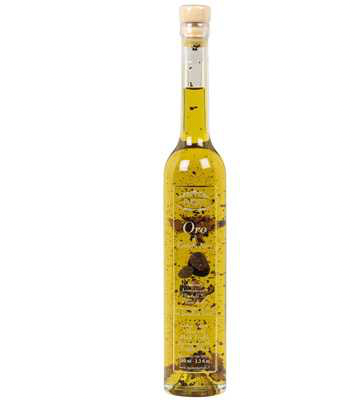 Truffle White Extra Virgin Olive Oil with Pieces of Black Truffle 100ml - Tenuta Marmorelle