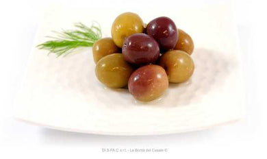 Black Round Olives with the Pitt in Brine 314ml - Tenuta Marmorelle