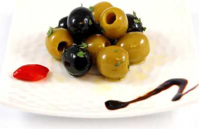 Black & Green Pitted Olives with Herbs 314ml
