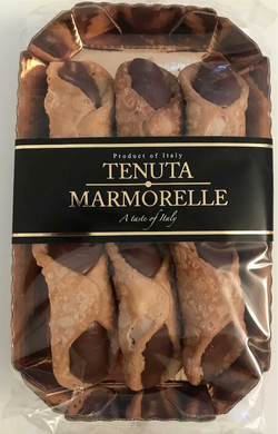 Cannoli Chocolate Hazelnut Cream Filled 200g - Tenuta Marmorelle