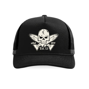STLHD Jolly Roger Old School Foam Front Trucker Hat - hhoutfitter