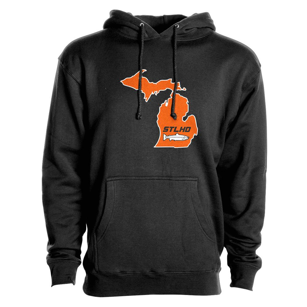 STLHD Michigan State Frame Premium Hoodie - hhoutfitter