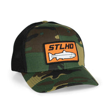 Load image into Gallery viewer, STLHD Camo Flexfit Trucker Hat - hhoutfitter