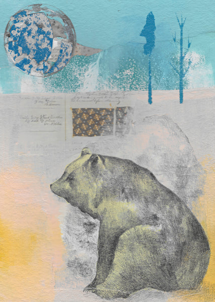 Bear and Moon Collage
