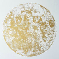 Gold Moon Screen Print