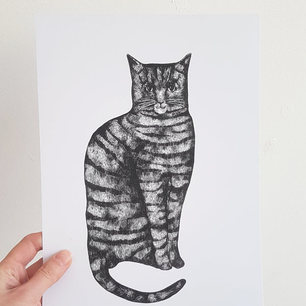 Digital Monty Cat Print