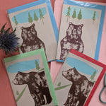Card Pack- bears; four cards, two designs