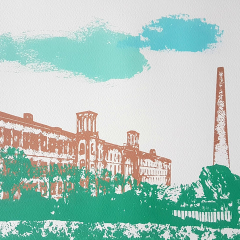 Salts Mill Screen Print