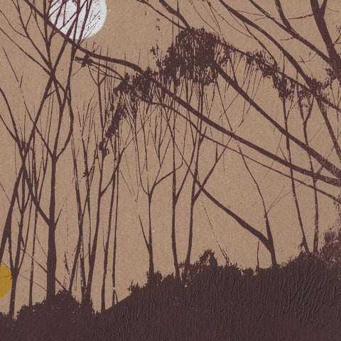 Trees and Moon Screen Print