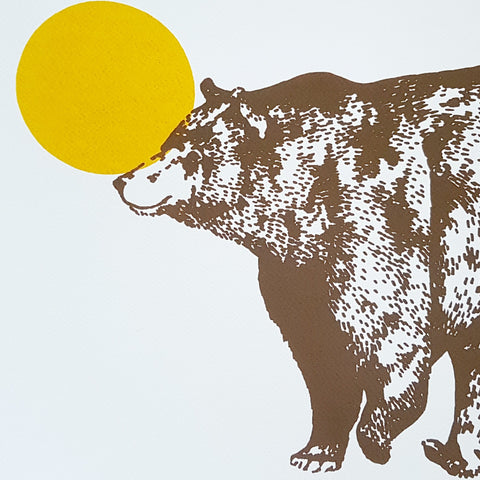 Late Bear Screen Print
