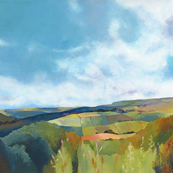Blue Skies & Patchwork Fields Ltd Edition Giclée Print