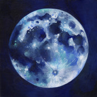 Blue Moon Greetings Card