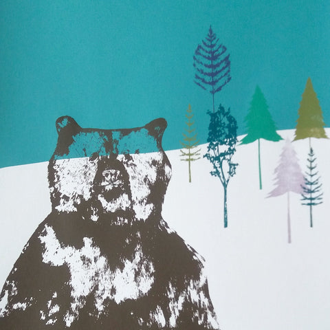 Brave Bear Screen Print