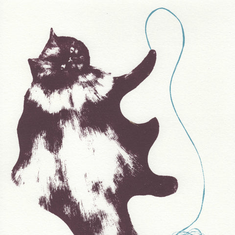 Cecile with Blue String Screen Print