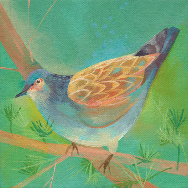 Turtle Dove Greetings Card