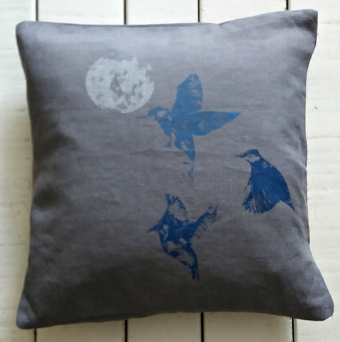 Linen Handprinted Cushion