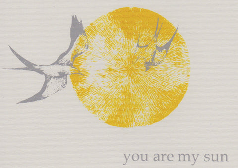 You are my Sun card