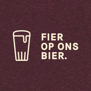 Load image into Gallery viewer, Fier Op Ons Bier T-shirt