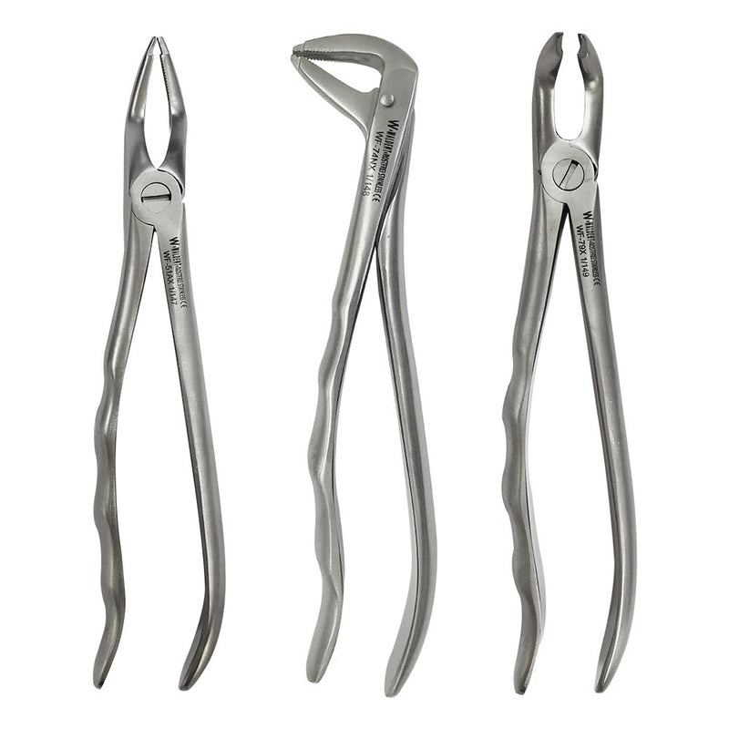 Waldent Atraumatic Extraction Instruments Forceps Kit Set of 6 - Anatomic Handle K1/6