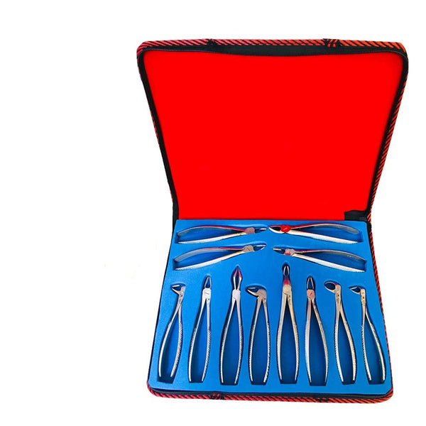 Waldent Atraumatic Extraction Instruments Forceps Kit Set of 6 - Coarse Serrations K1/5