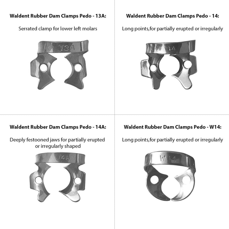 Waldent Rubber Dam Clamps Pedo