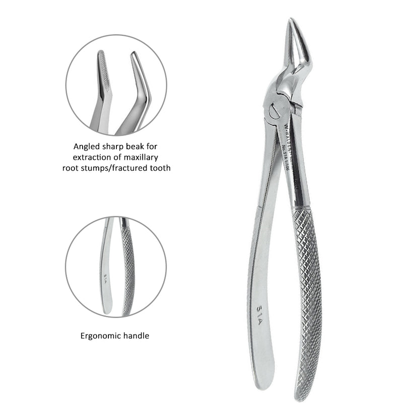 Waldent Tooth Extraction Forceps Upper Roots No.51A (1/106)