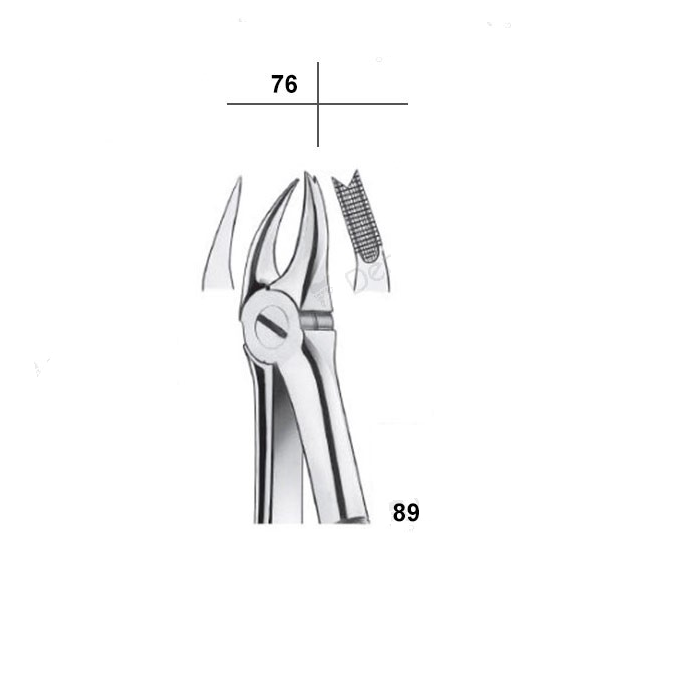 Waldent Tooth Extraction Cowhorn Forceps Upper Molars Right  , No.89 (1/115)