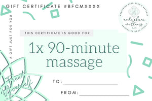 NEW CLIENTS ONLY - 1x 90-minute massage (Black Friday Cyber Monday Sale!)