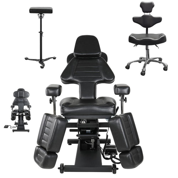 Electric tattoo client chair ergonomic adjustable artist chair tattoo trolley Tattoo Studio Furniture Packages
