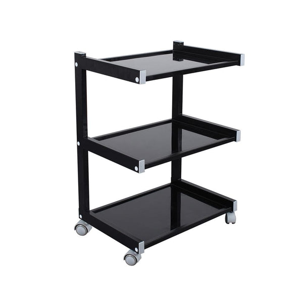 Beauty Trolley  Facial Cart With Glass Top Black