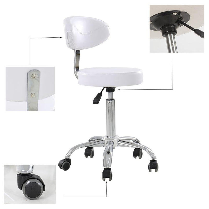 beauty salon chair stool spa chair tattoo chair white with back rest