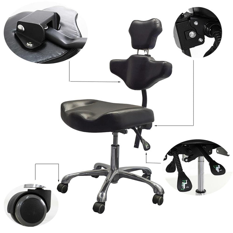Tattoo stool with backrest hydraulic adjustable tattoo ink stool artist chair TA-AC-03