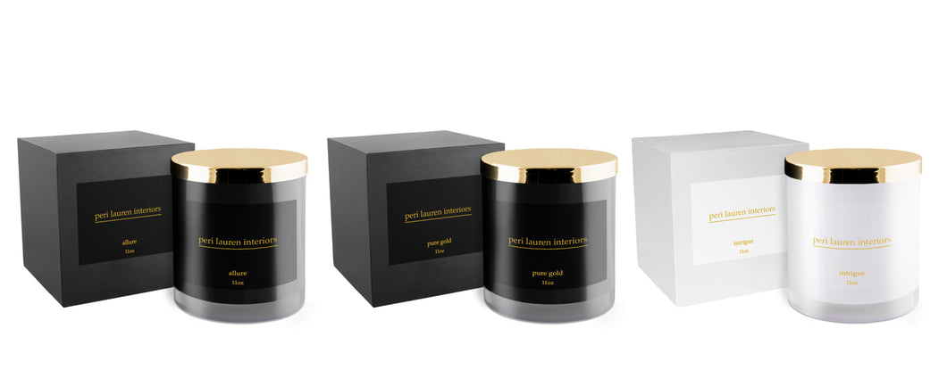 peri lauren interiors Private Collection Candles - 3 Scents