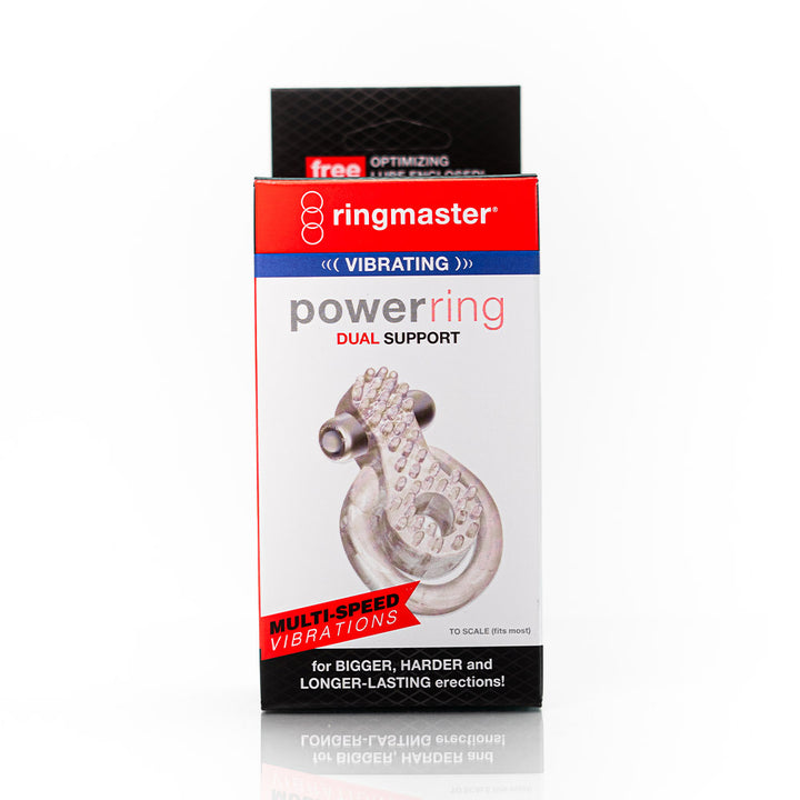 RingMaster Vibrating Power Ring with Dual Support