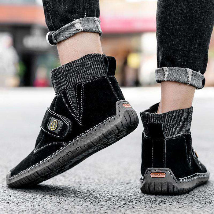 Men's High Top Patchwork Boots