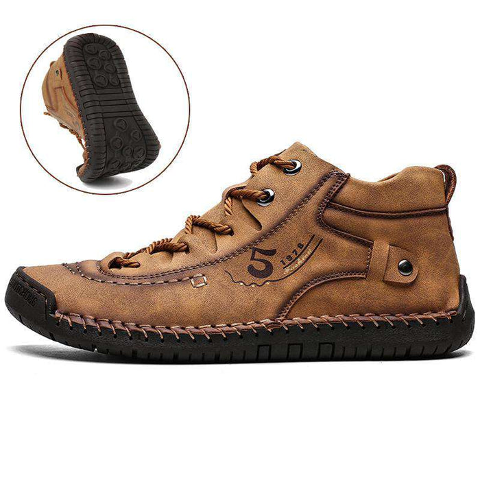 Men's Hand Stitching Microfiber Leather Comfy Soft Boots