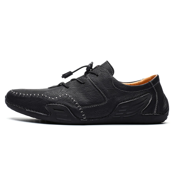 Konhill Men's Lace-up leather shoes