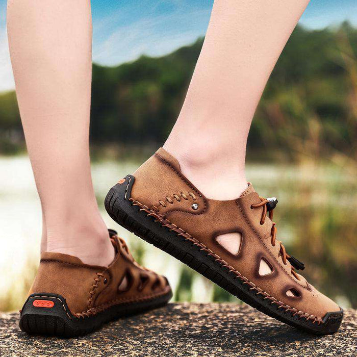 Men's Breathe Hollow Out Leather Sandals