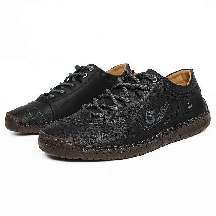 Men's Leather Flats Casual Shoes