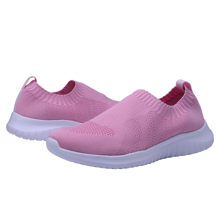 Konhill Women's Knitted Walking Shoes