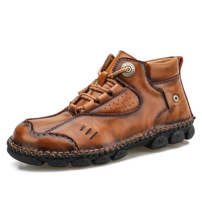 Konhill Men's Casual Shoes Leather Boots