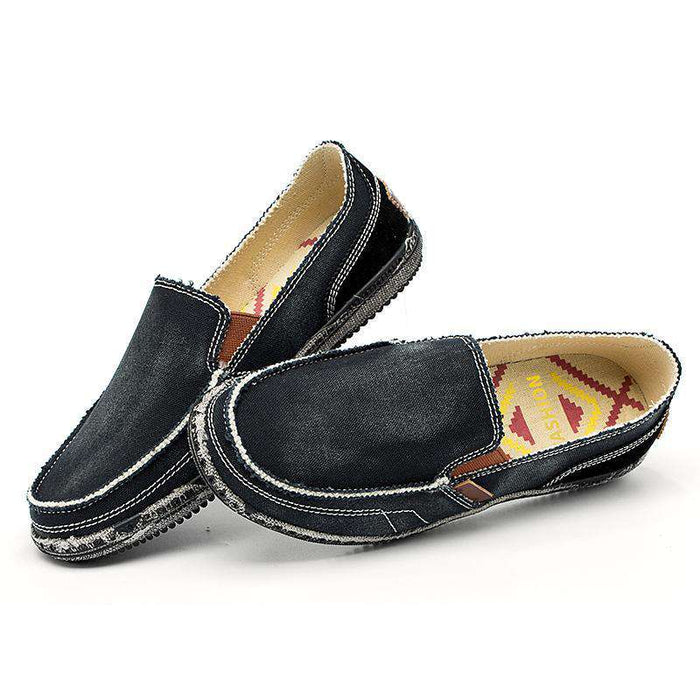 Soft Denim Canvas Loafers