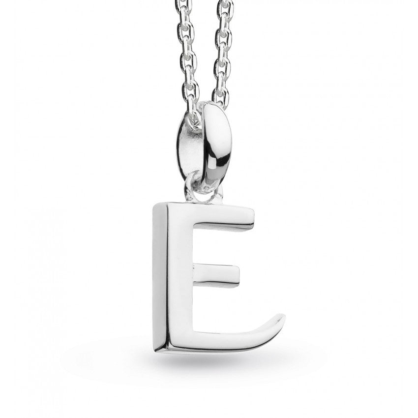 Kit Heath - Initial, Sterling Silver E Necklace
